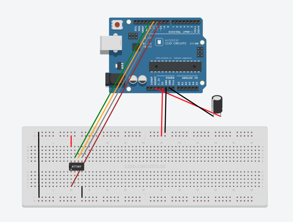Programming ATtiny85 With Arduino IDE & Arduino Uno as ISP